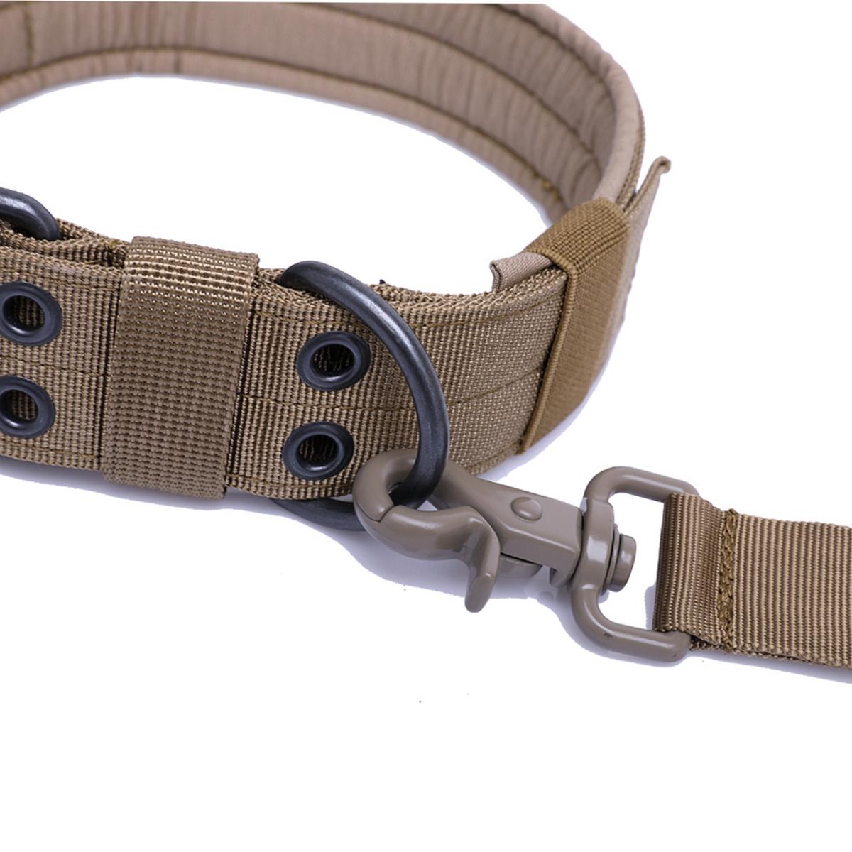 Tactical-Scorpion-Gear-Dog-Collar-Canine-K9-Training-Walking-Military-Nylon thumbnail 12