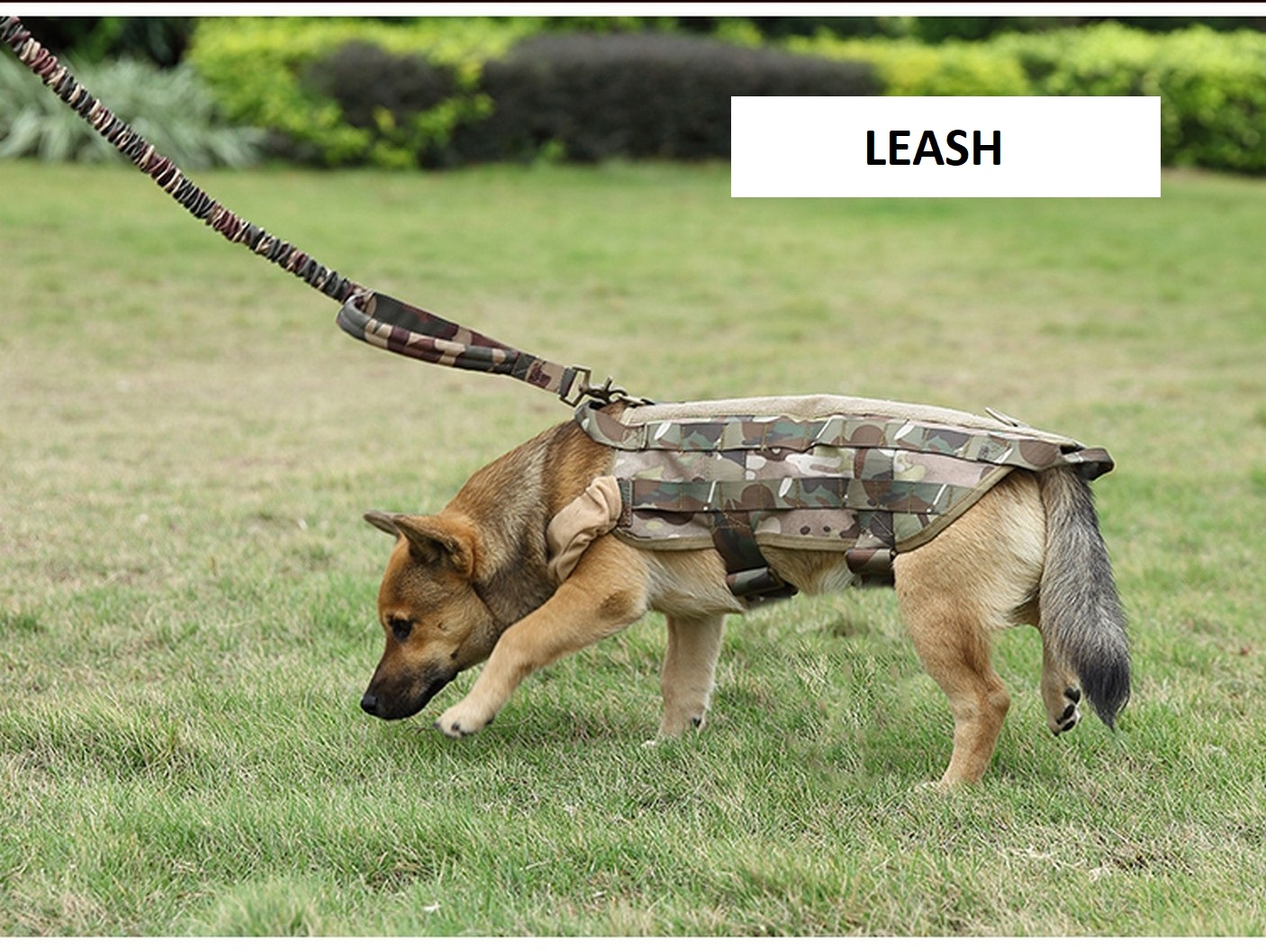 Tactical-Scorpion-Gear-Dog-Leash-Lead-Canine-K9-Military-Training-Vest-Harness thumbnail 9