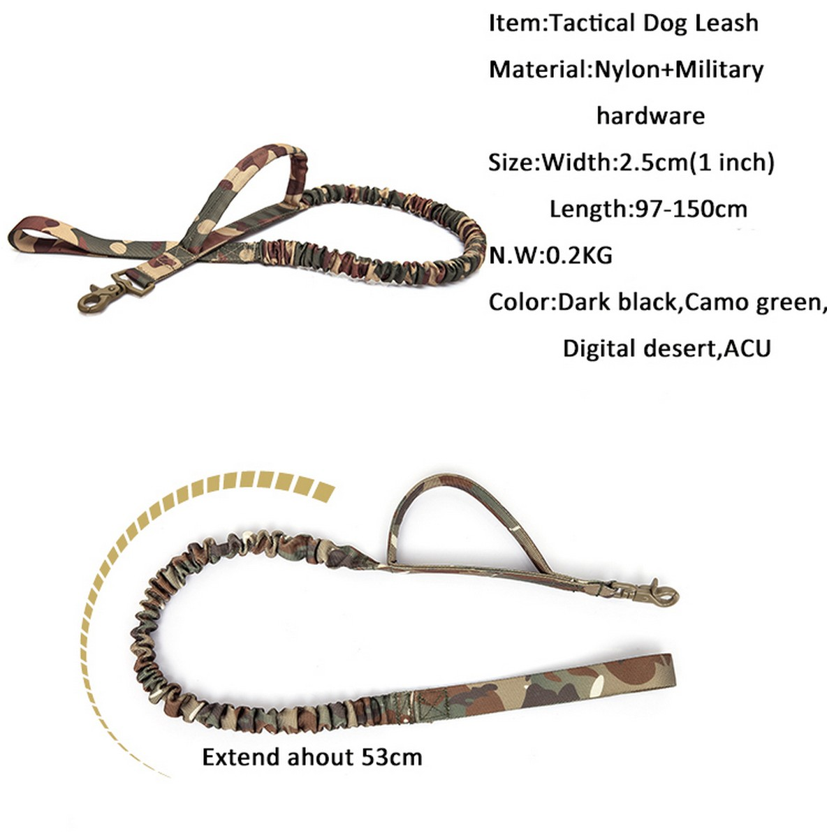 Tactical-Scorpion-Gear-Dog-Leash-Lead-Canine-K9-Military-Training-Vest-Harness thumbnail 7