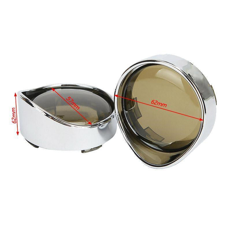 2pcs Smoke Turn Signal Light Lens Cover For Harley Touring