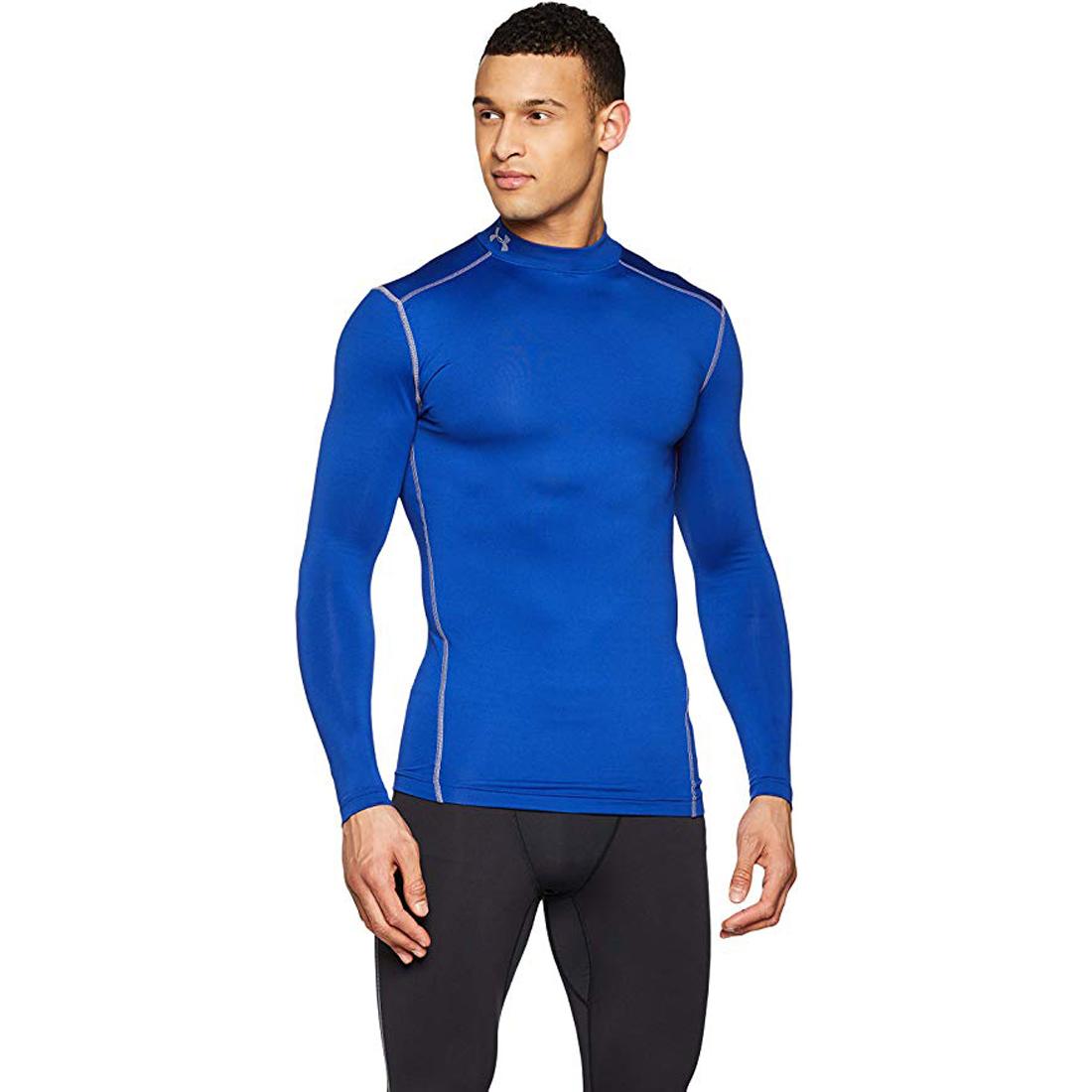 Under Armour Mens ColdGear Compression Mock Long Sleeve T-Shirt