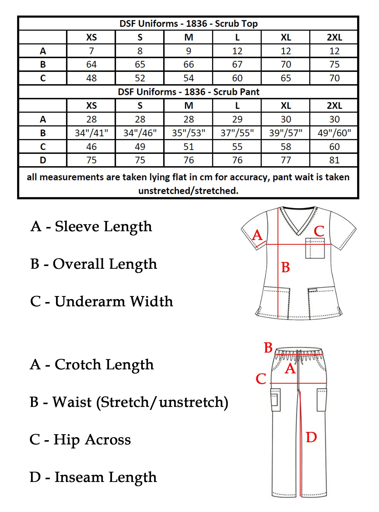 3539ccad9ab DSF Medical Uniform Women Men Scrub Set Top and Cargo Pants 1836 | eBay