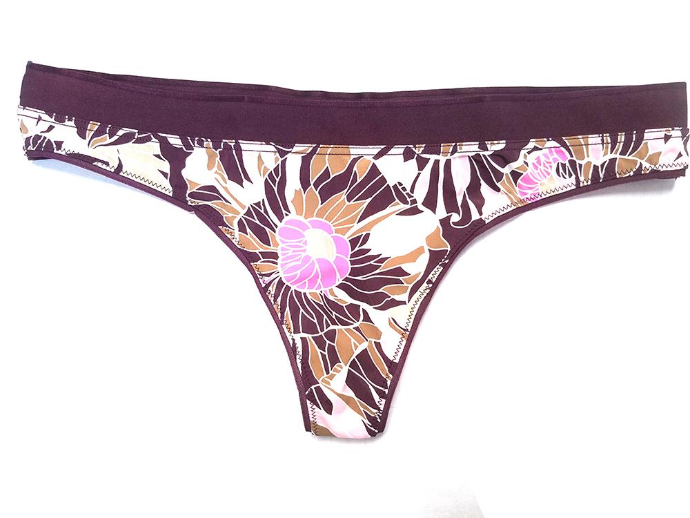 2 Jockey Stretch Nylon 1304 Lace Thong Set No Panty Line Rasp Pink Blue 6 M NWT