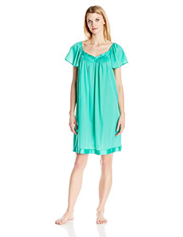 Vanity Fair 30109 Coloratura Flutter Sleeve Gown XL Eves Garden | eBay
