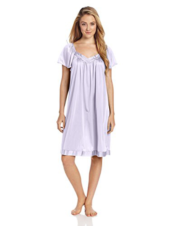 Vanity Fair Women\'s Coloratura Sleepwear Short Flutter Sleeve Gown ...