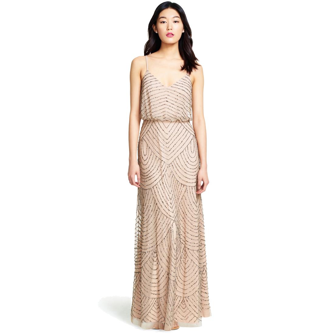 Adrianna Papell Women\'s Long Beaded Blouson Gown | eBay