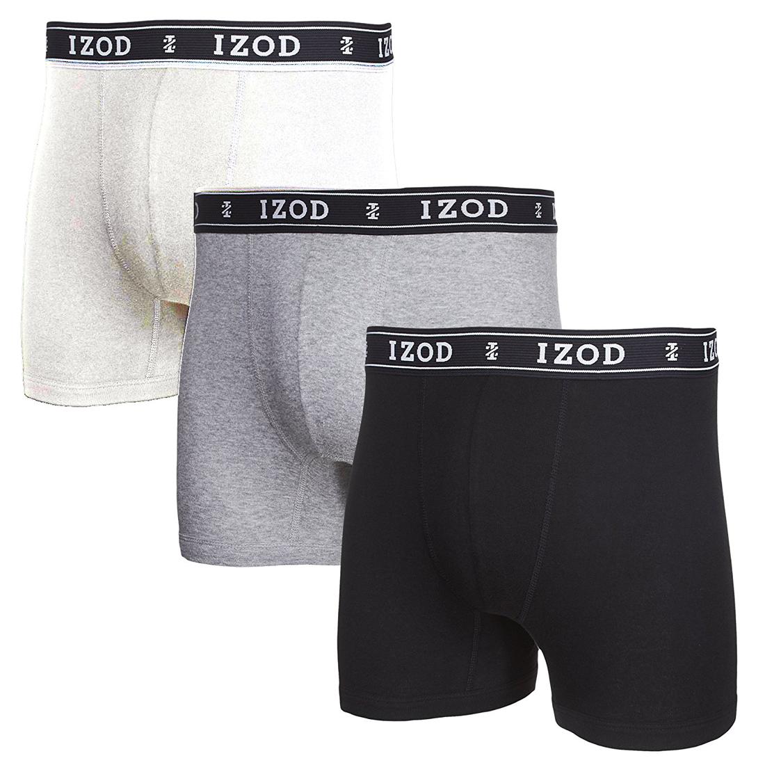 bbce632d653f IZOD Men's Knit Boxer Briefs - 3 Pack | eBay
