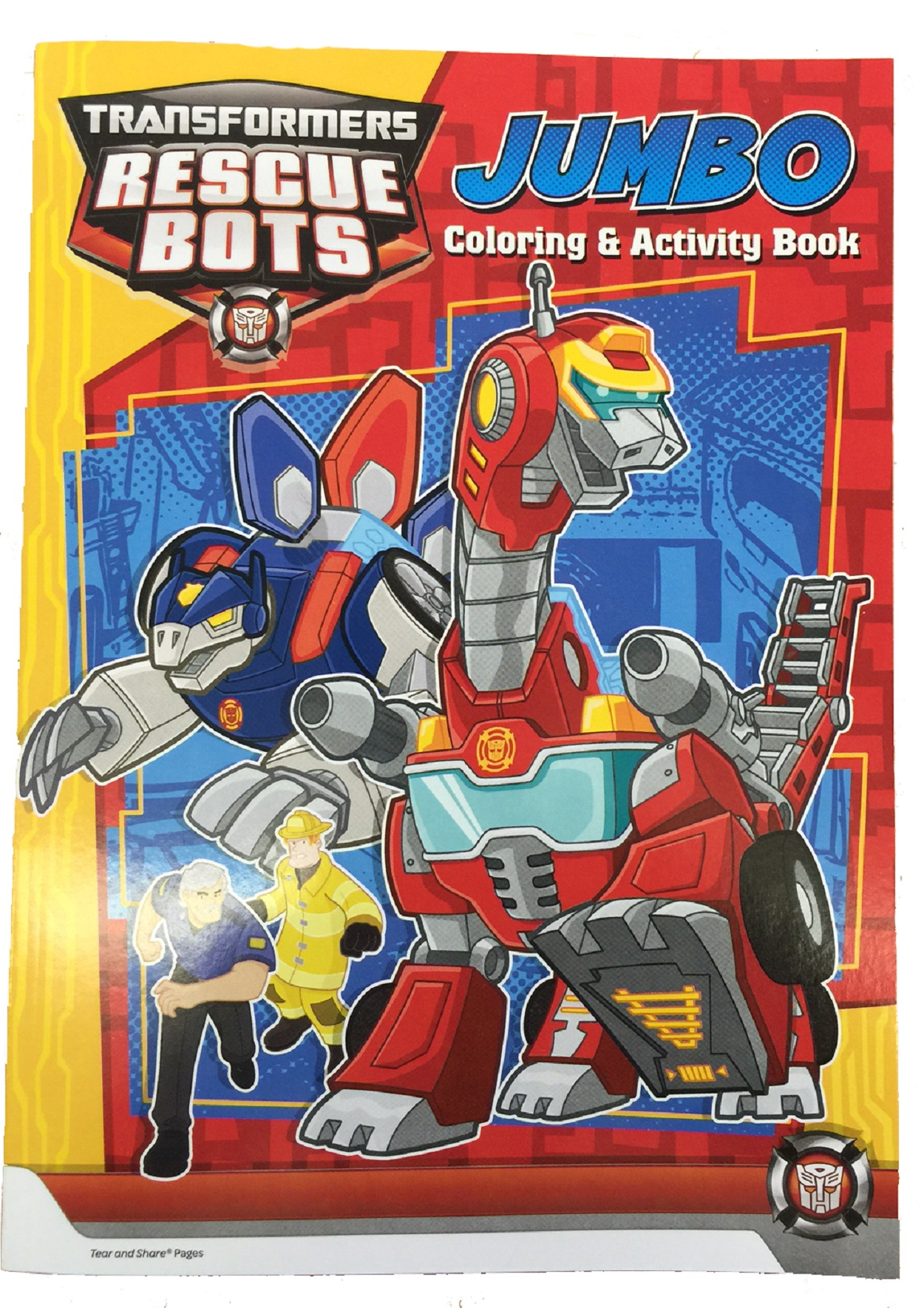 transformers rescue bots coloring book and play pack red