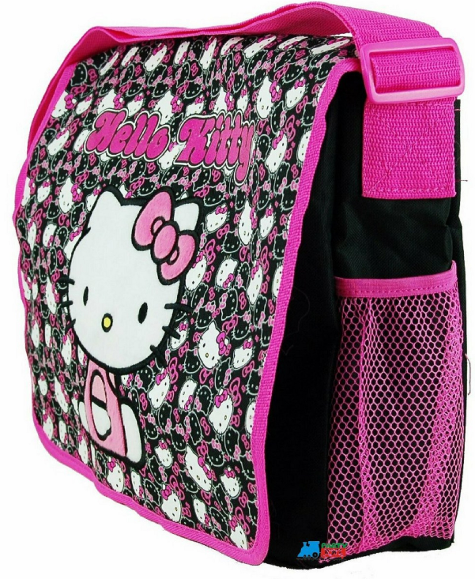 1728f4dd755b Hello Kitty Messenger Blk Faces Backpack Laptop Bag
