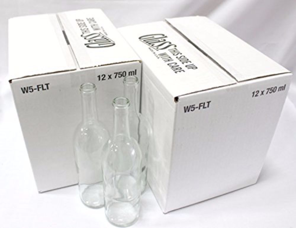 Clear Bordeaux Wine Bottles-2 Cases For Wine Making