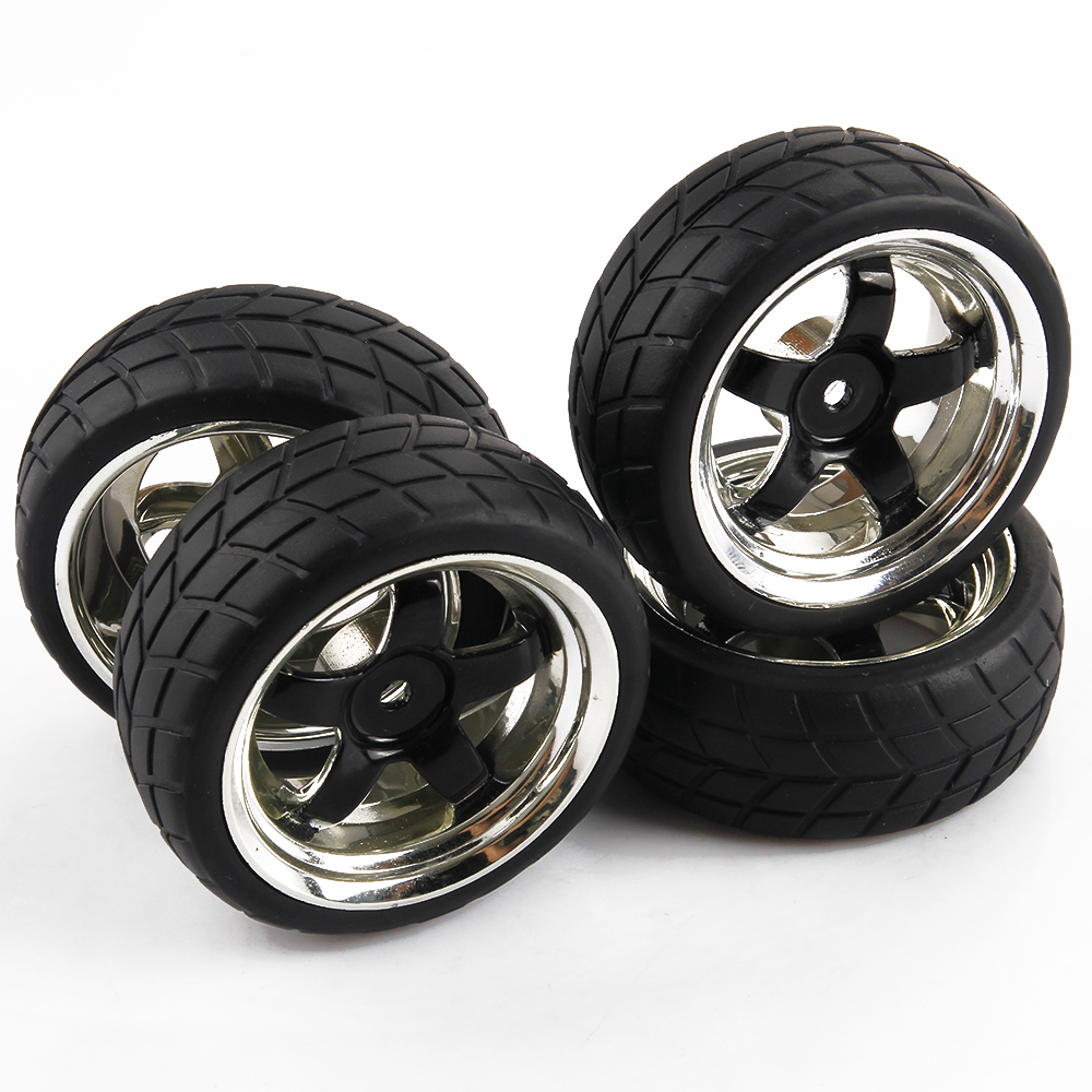 5 Spoke RC Car Tires & Rims 1/10 Scale On Road Car For HPI