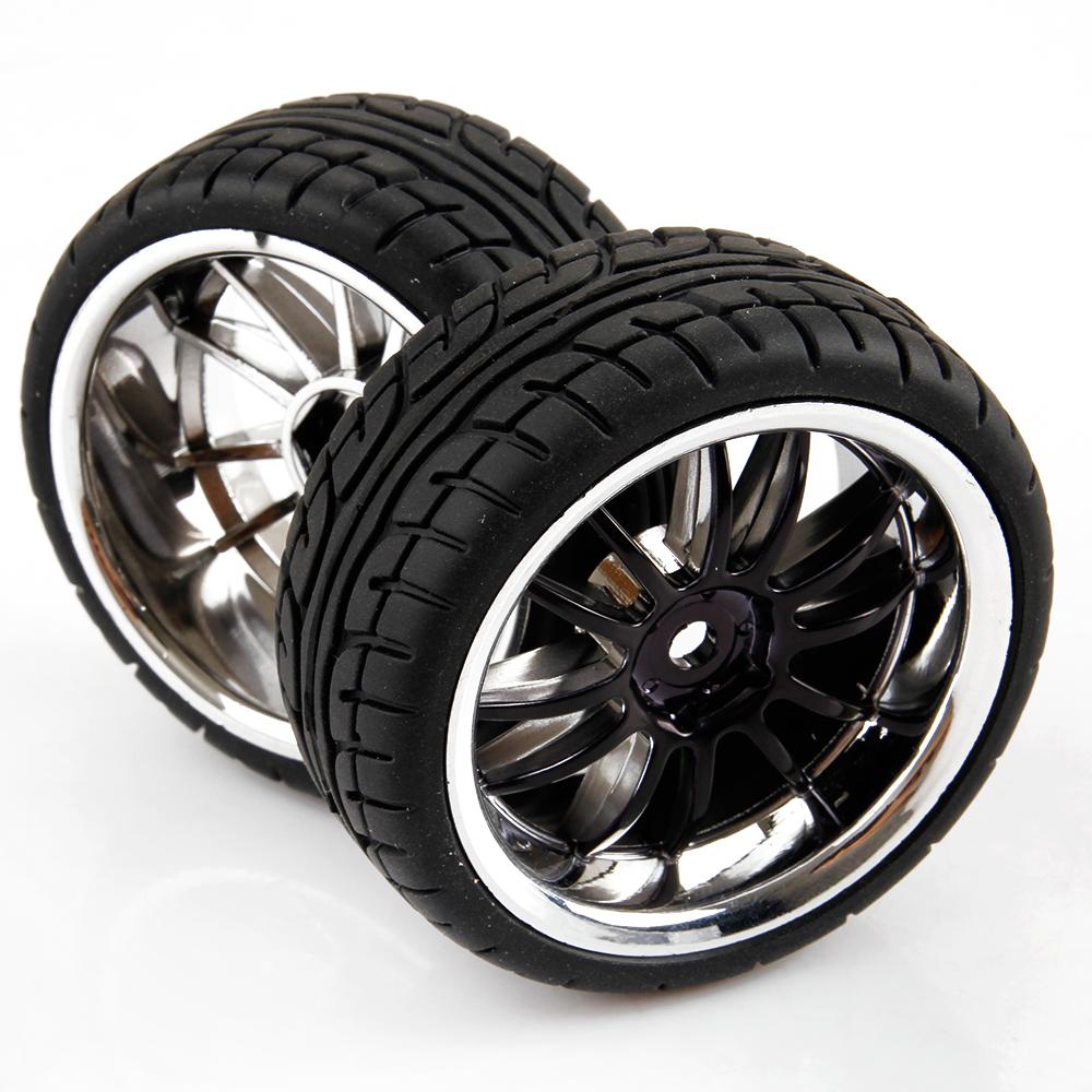 12 Spoke RC Car Tires & Wheels For HSP HPI 1/10 Scale On