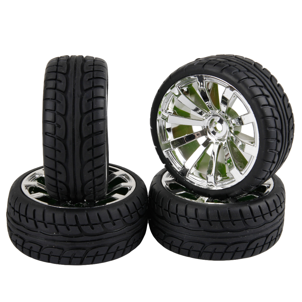 1/10 Scale RC Tires & Wheels On Road Car 10 Spoke For HPI