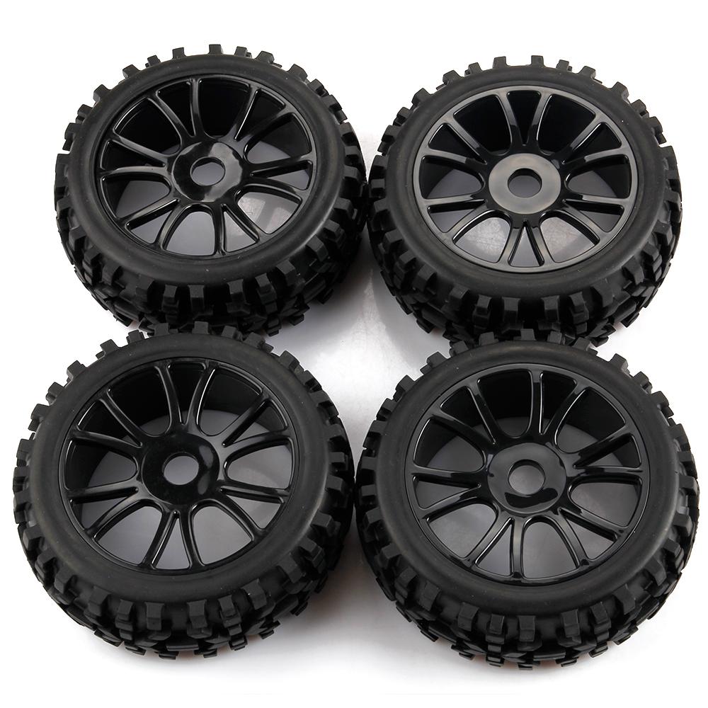 4Pcs 1/8 RC Car Wheels Tires Off Road Car Buggy For HSP