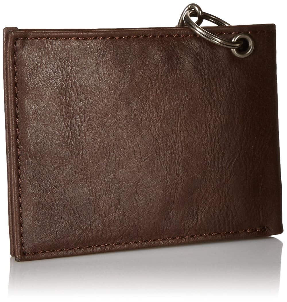 Dickies-Men-039-s-Leather-Slimfold-Wallet-With-Chain thumbnail 9