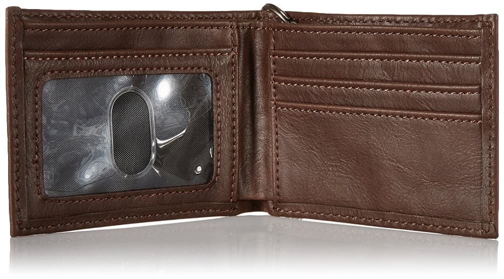 Dickies-Men-039-s-Leather-Slimfold-Wallet-With-Chain thumbnail 10