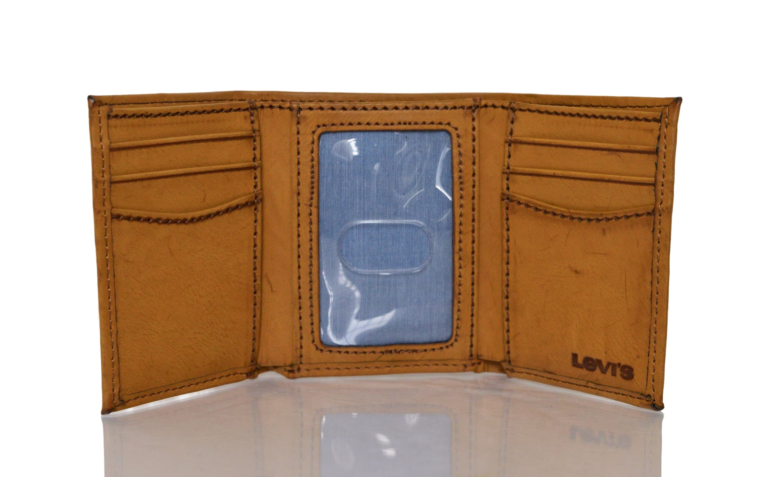 Levi-039-s-Two-Horse-Logo-Men-039-s-Trifold-Leather-Wallet thumbnail 11