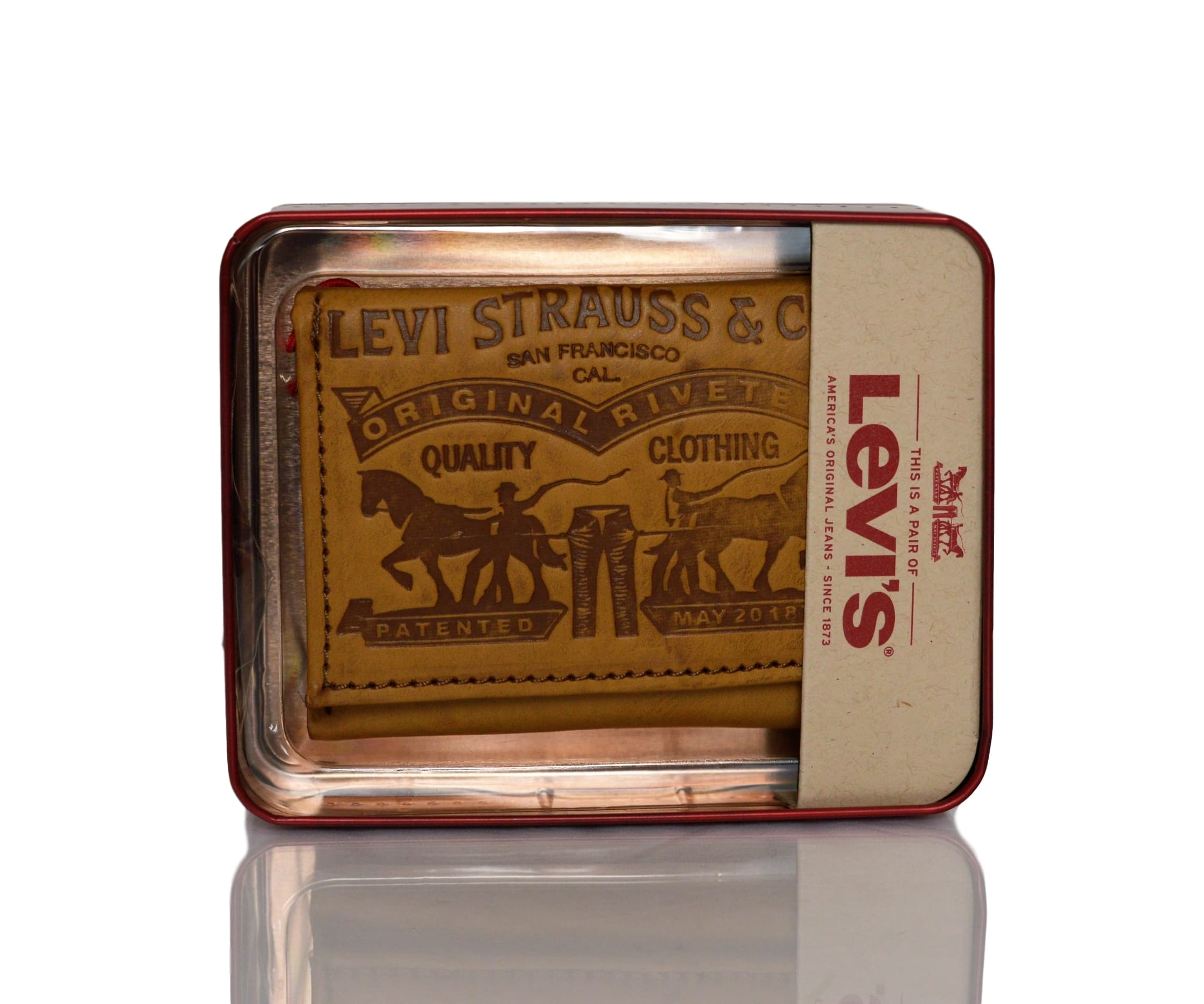 Levi-039-s-Two-Horse-Logo-Men-039-s-Trifold-Leather-Wallet thumbnail 13