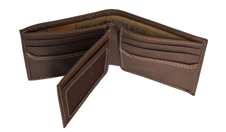 Levi-039-s-X-Capacity-Slim-Men-039-s-Bifold-Leather-Wallet thumbnail 14