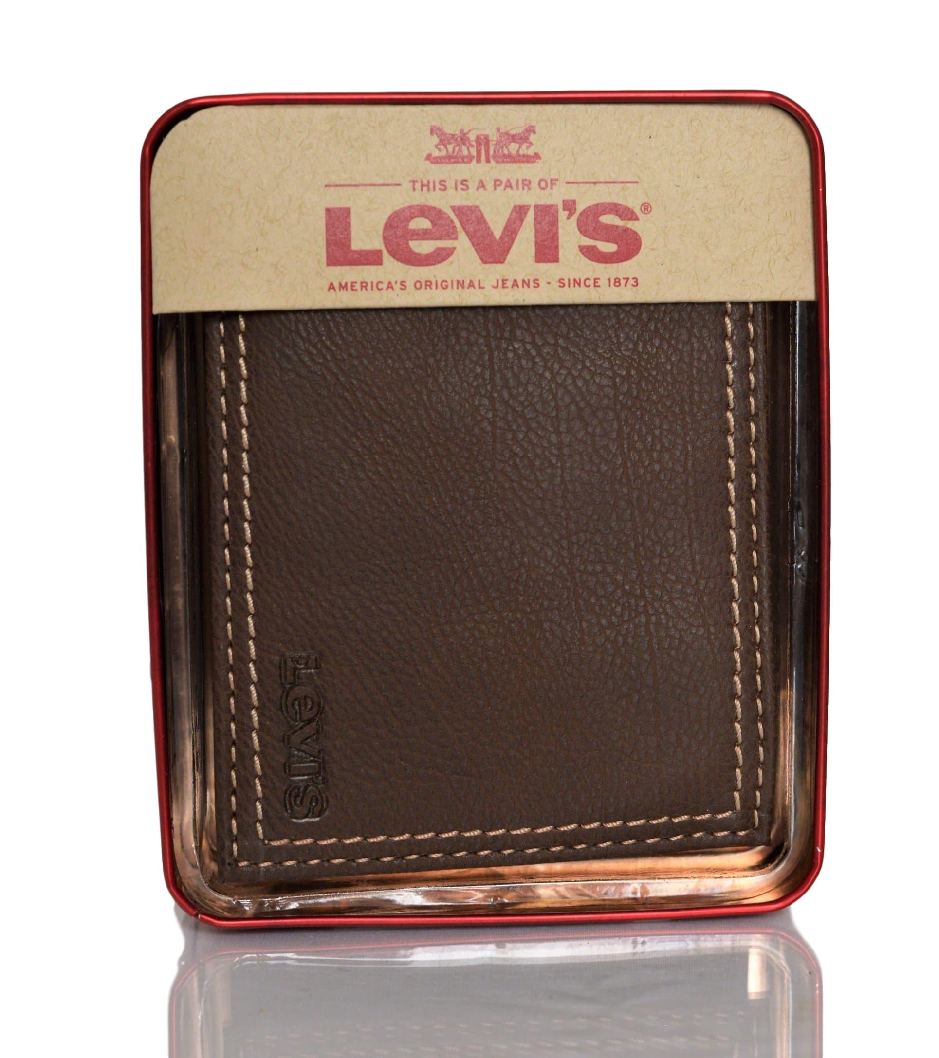 Levi-039-s-X-Capacity-Slim-Men-039-s-Bifold-Leather-Wallet thumbnail 15
