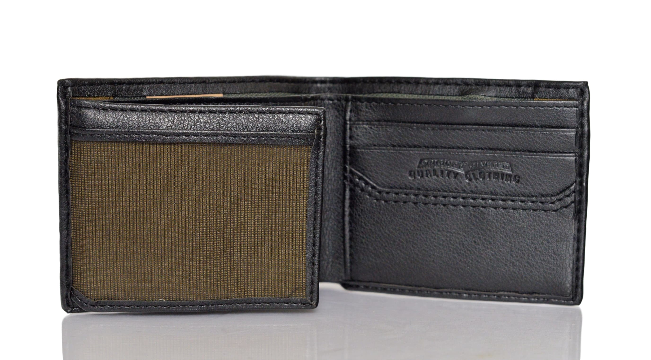 Levi 39 S Traveler Men 39 S Bifold Leather Wallet With Interior Zipper Ebay