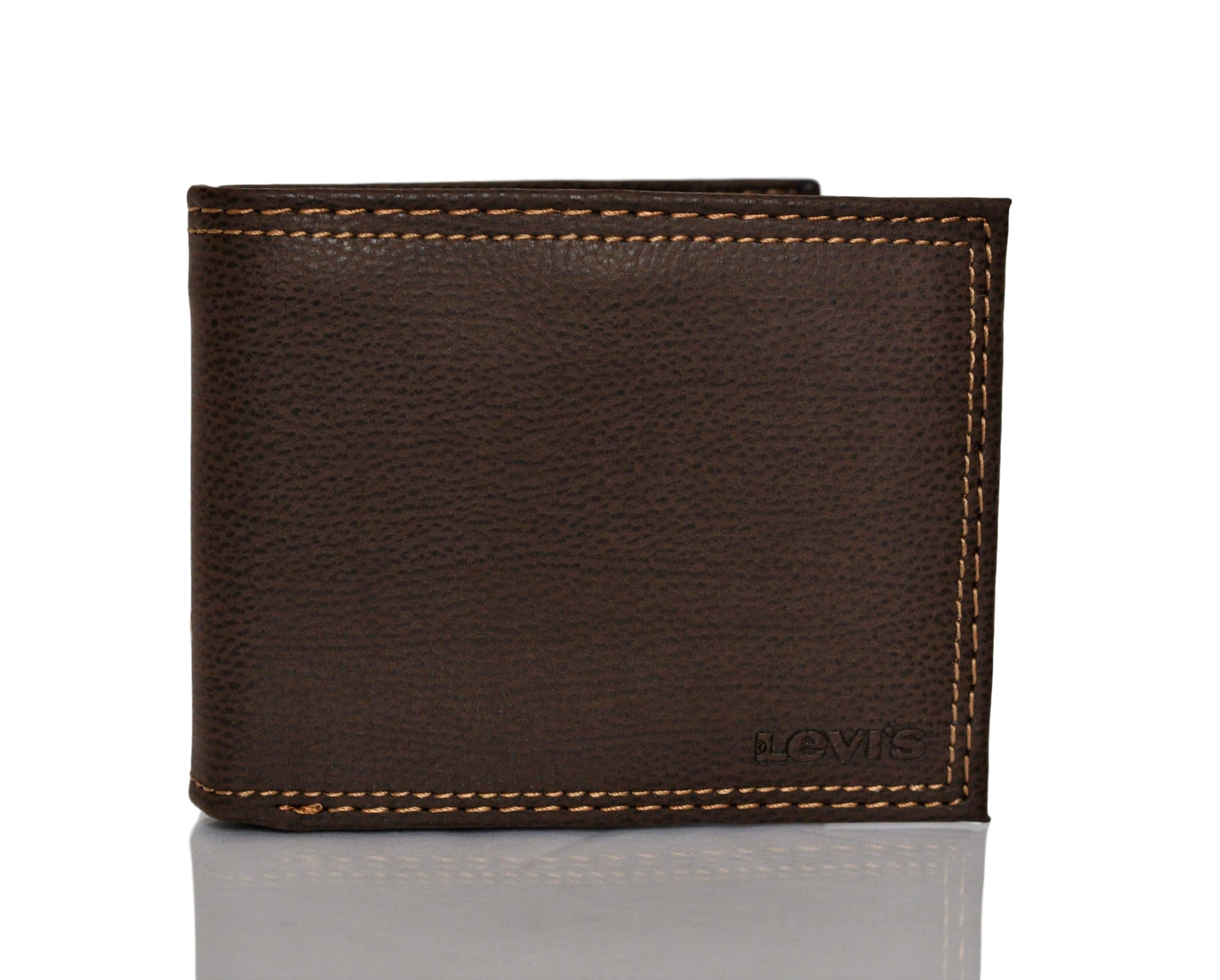 Levi 39 S Traveler Men 39 S Bifold Leather Wallet With Interior