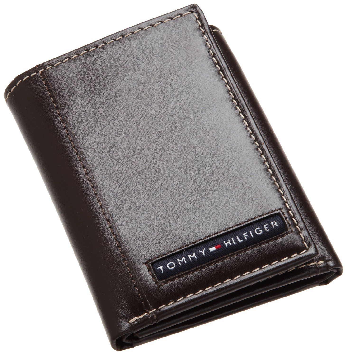 Tommy Hilfiger Men S Leather Cambridge Trifold Wallet With