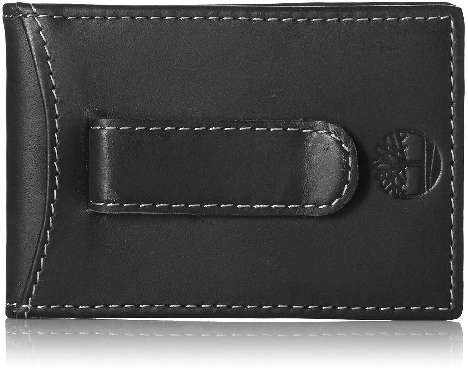Timberland Men/'s Hunter Flip Clip Leather Wallet Black