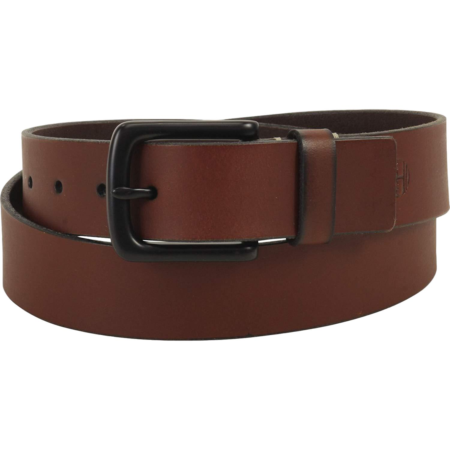 thumbnail 8 - Timberland Men's 38MM Genuine Leather Belt with Black Metal Buckle