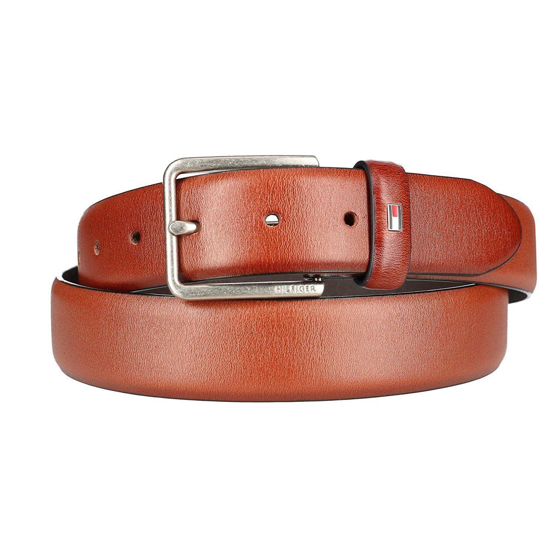 Tan Tommy Hilfiger Men/'s 35MM Leather Jean Belt