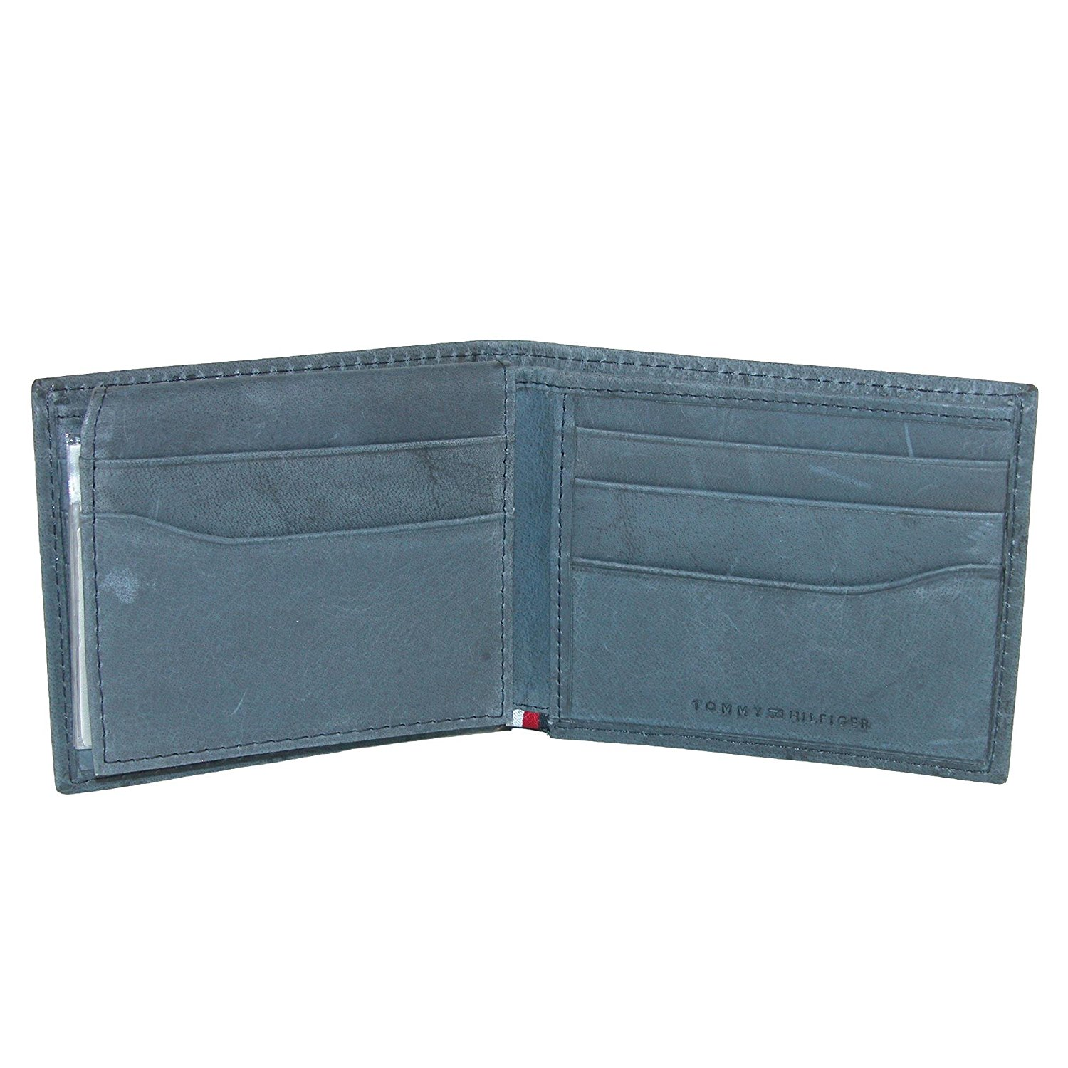 Tommy-Hilfiger-Men-039-s-Leather-Vaughn-Embossed-Bifold-Wallet thumbnail 5