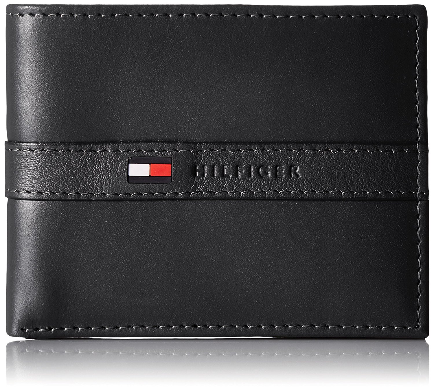 917241e36670 Tommy Hilfiger Men s Ranger Leather Passcase Wallet with Removable Card  Holder