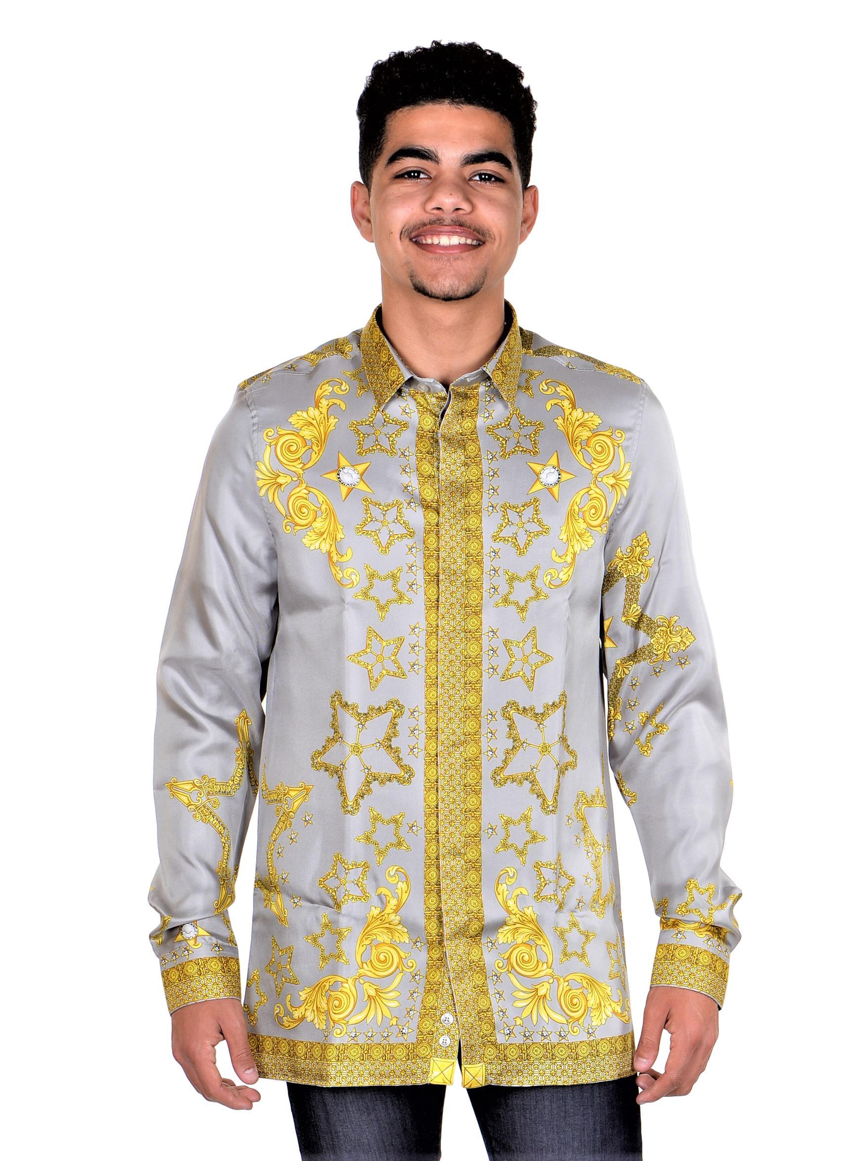 Versace-Collection-Trend-Mens-Silk-Printed-Shirt thumbnail 14