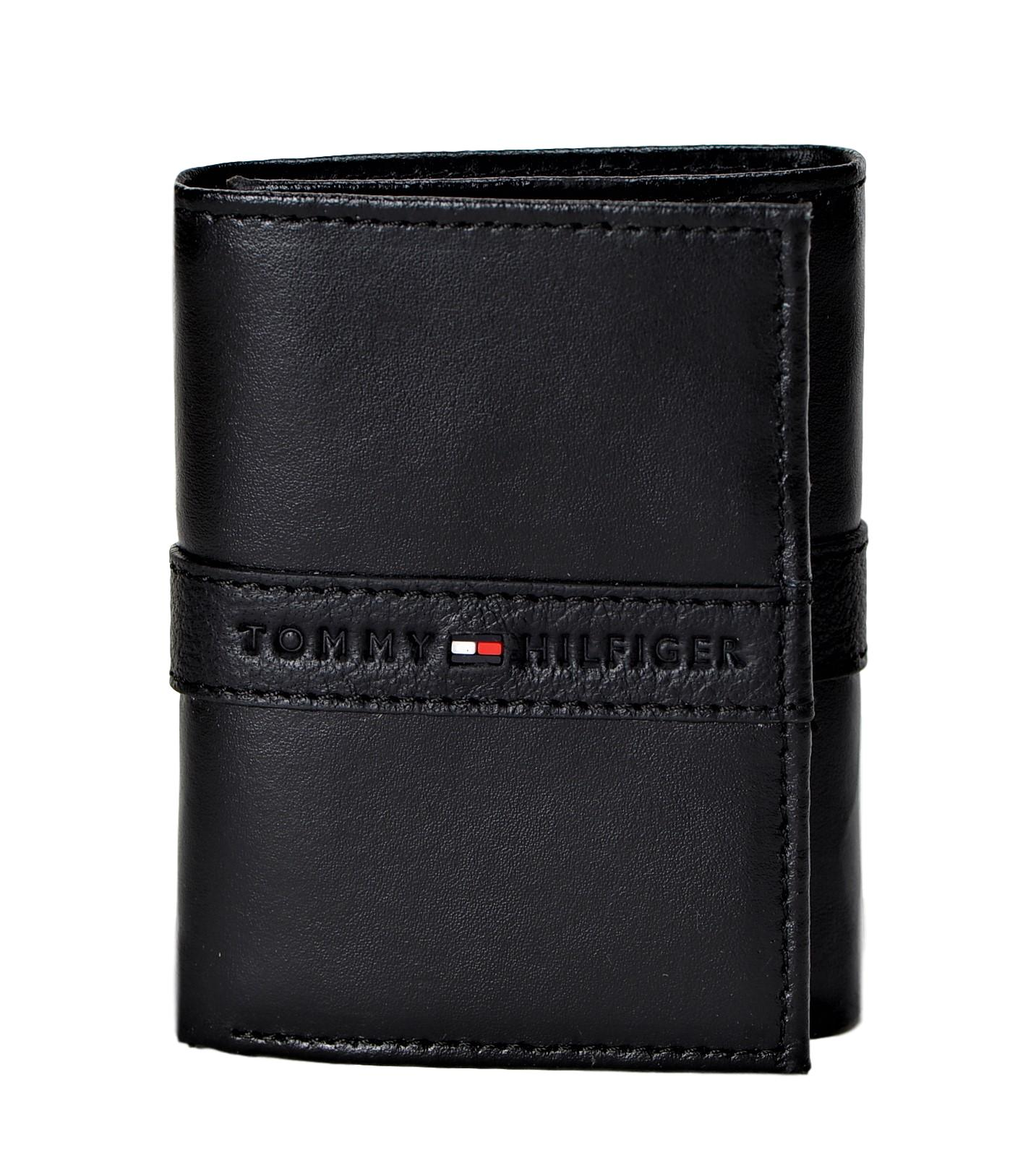 tommy hilfiger men s rfid block wallet leather trifold cards id