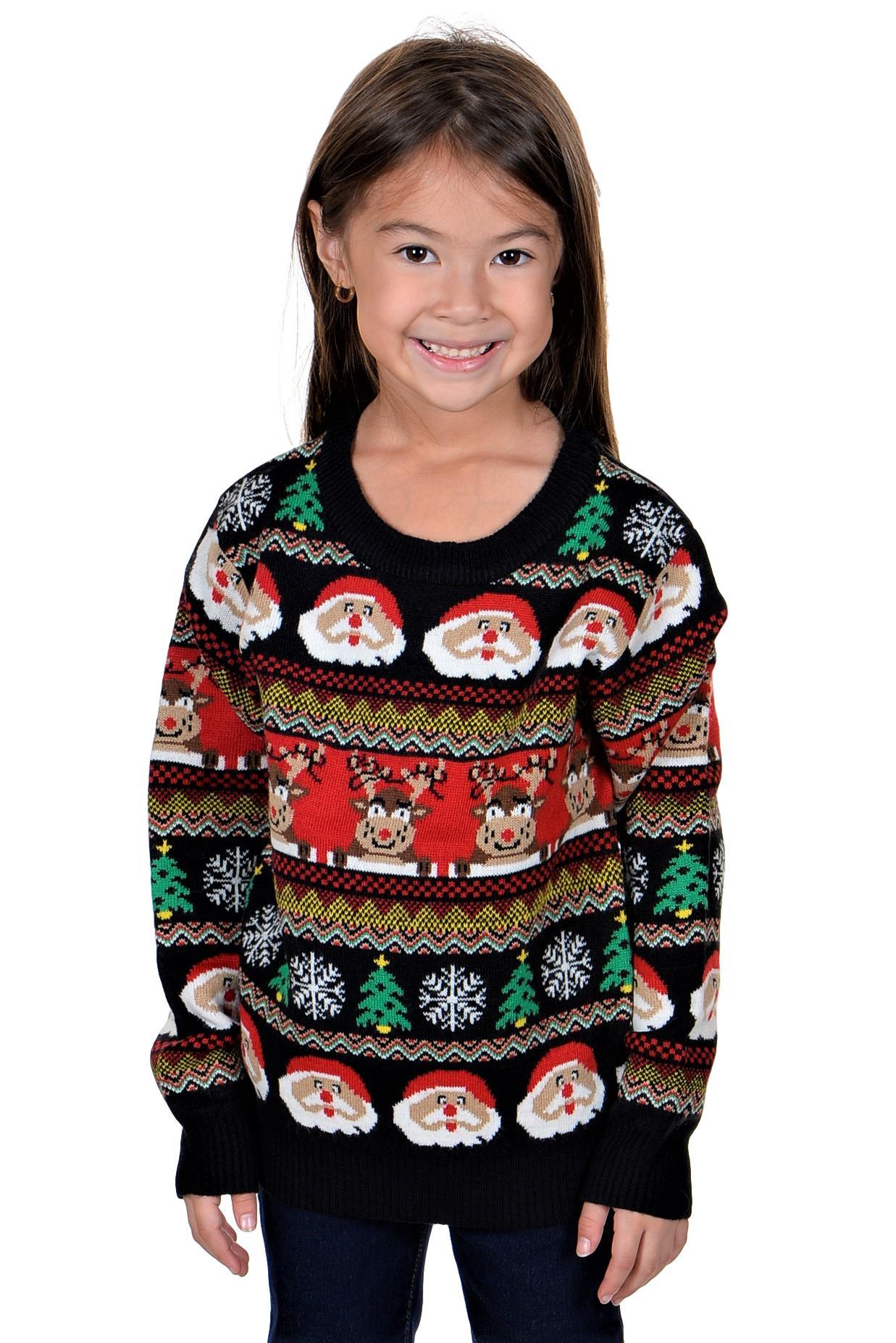 KESIS Children Santa Rein Deer Ugly Christmas Sweater | eBay