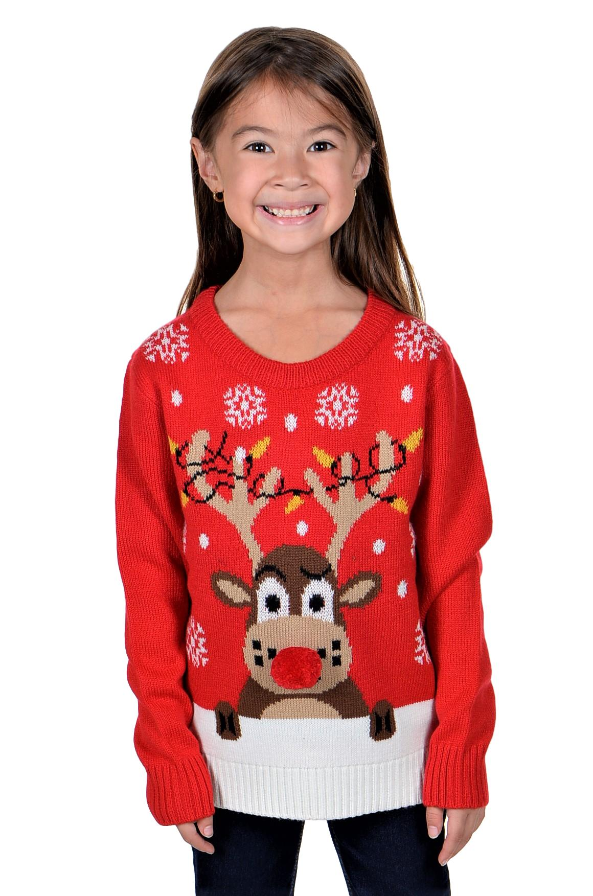 Details about KESIS Children Ugly Christmas Sweater Red