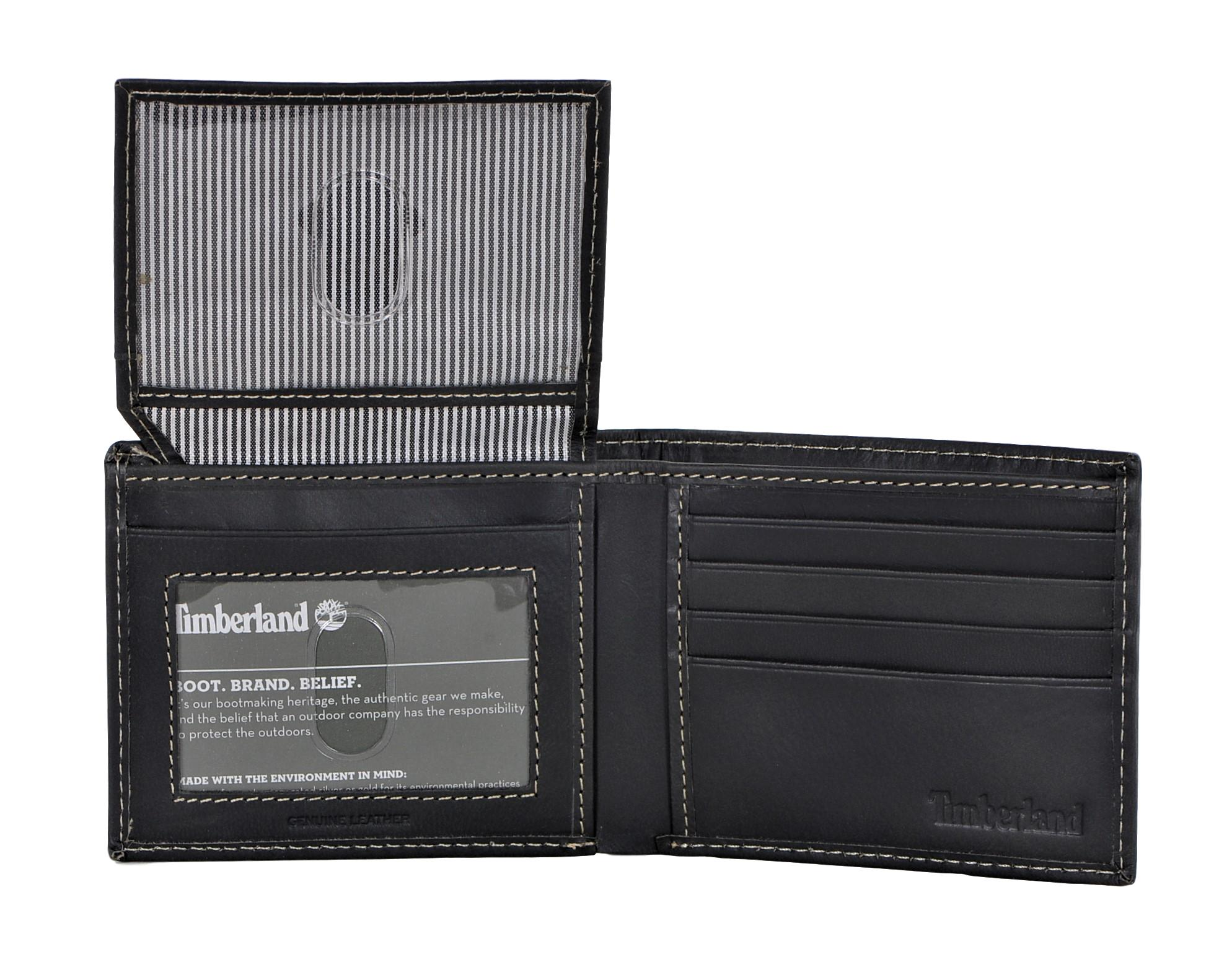Timberland-Men-039-s-Genuine-Leather-Cloudy-Passcase-Wallet thumbnail 10