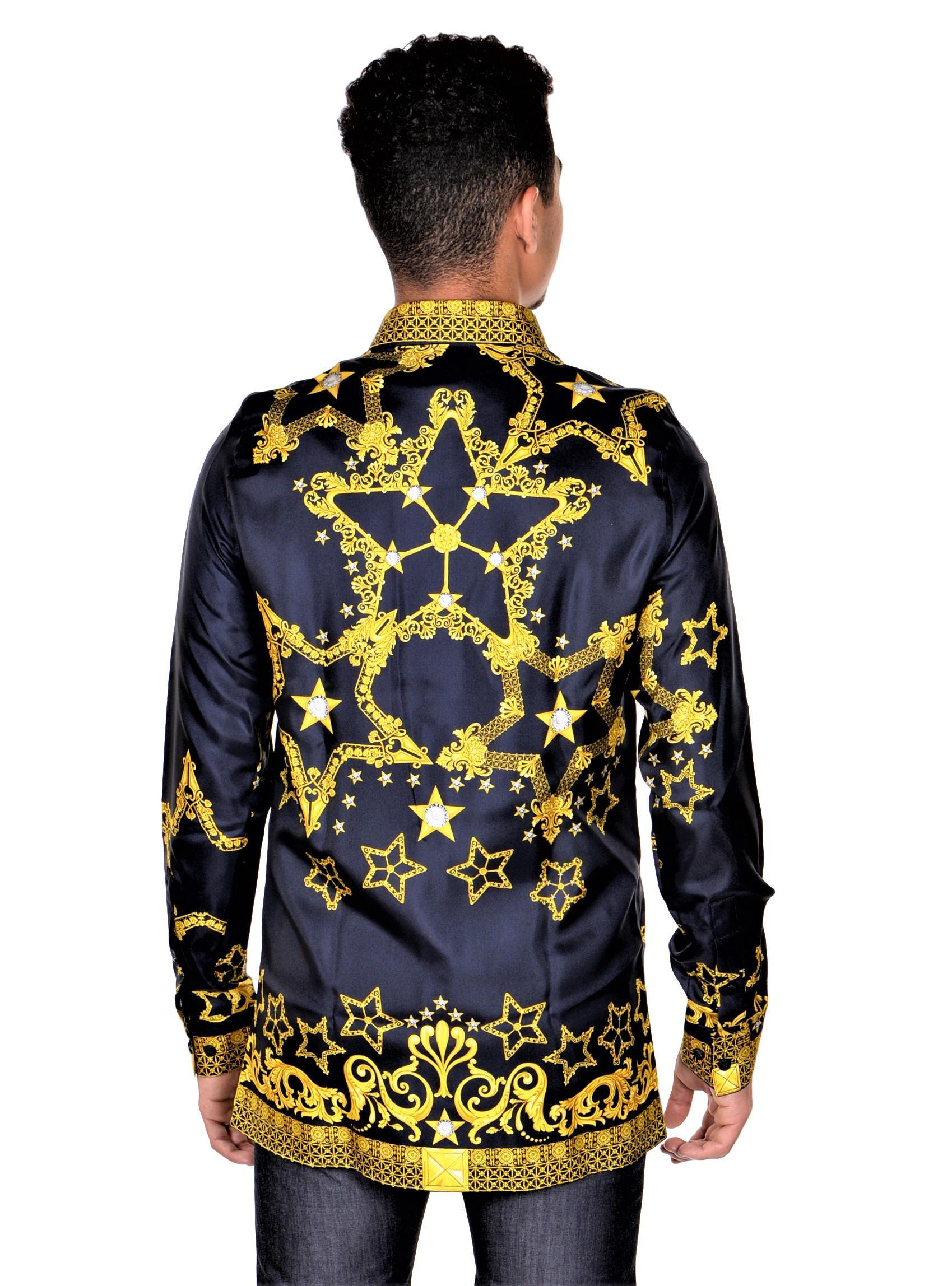 Versace-Collection-Trend-Mens-Silk-Printed-Shirt thumbnail 10