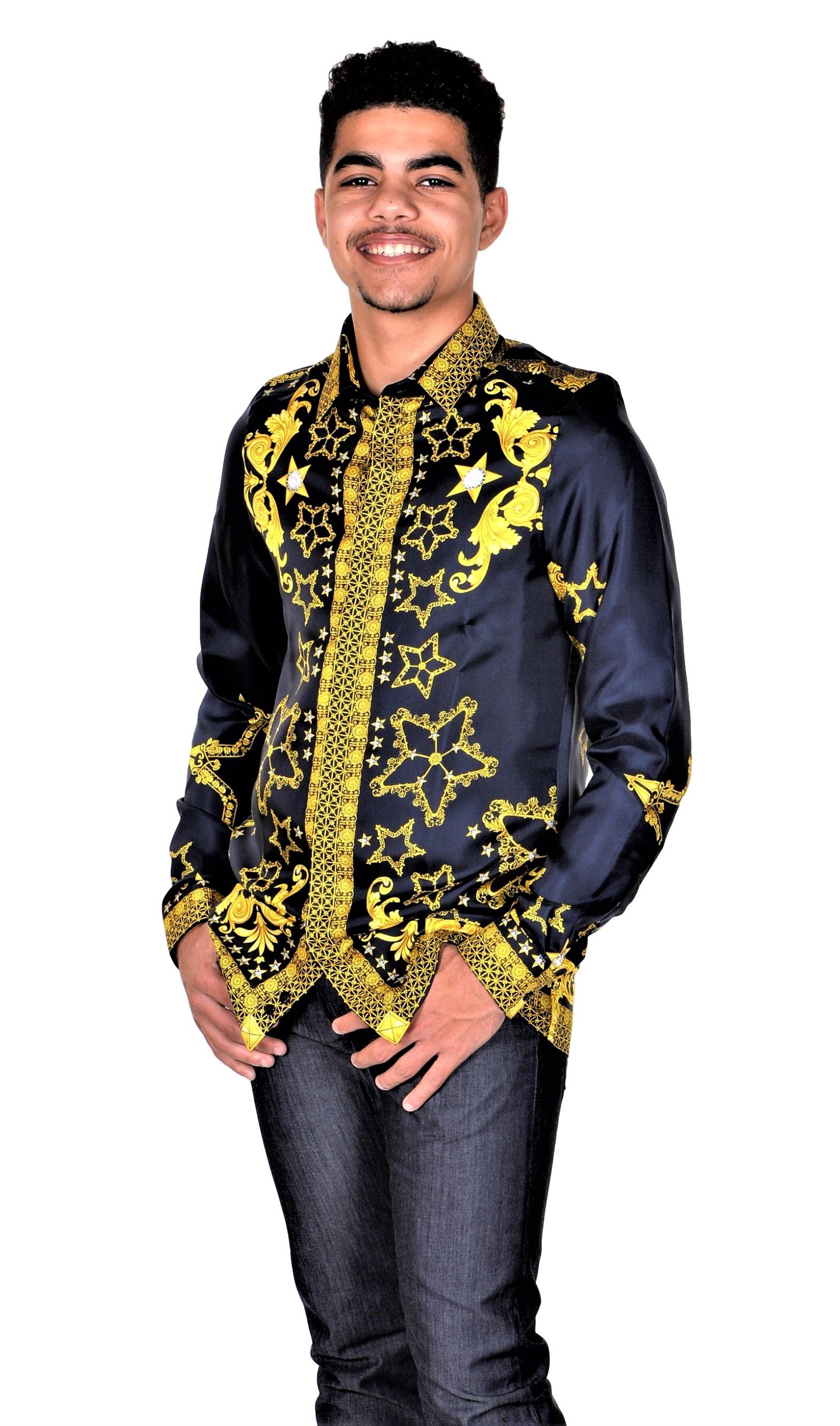 Versace-Collection-Trend-Mens-Silk-Printed-Shirt thumbnail 8