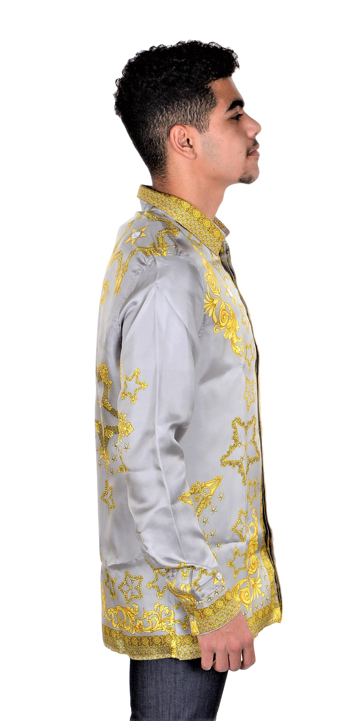 Versace-Collection-Trend-Mens-Silk-Printed-Shirt thumbnail 16