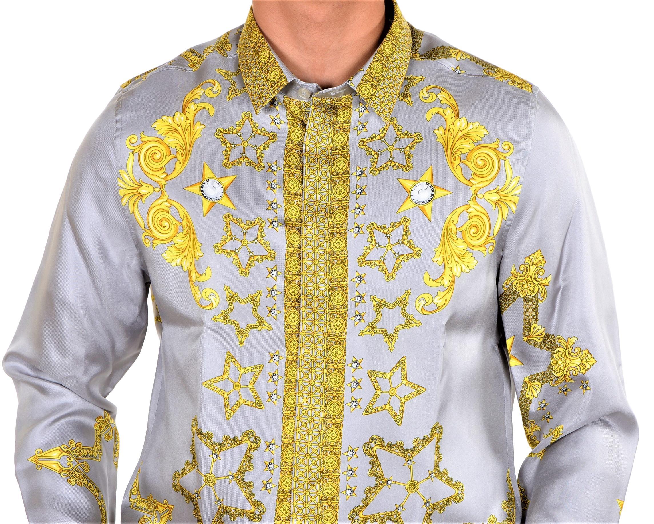Versace-Collection-Trend-Mens-Silk-Printed-Shirt thumbnail 18