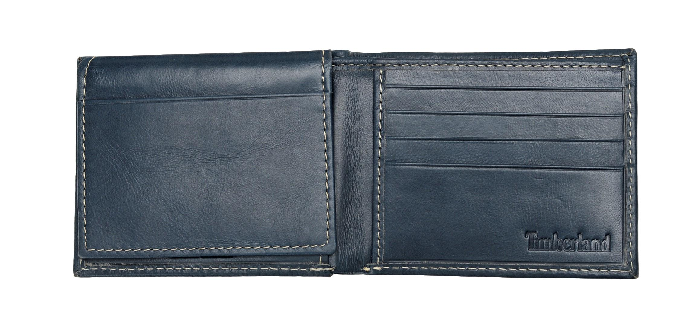 Timberland-Men-039-s-Genuine-Leather-Cloudy-Passcase-Wallet