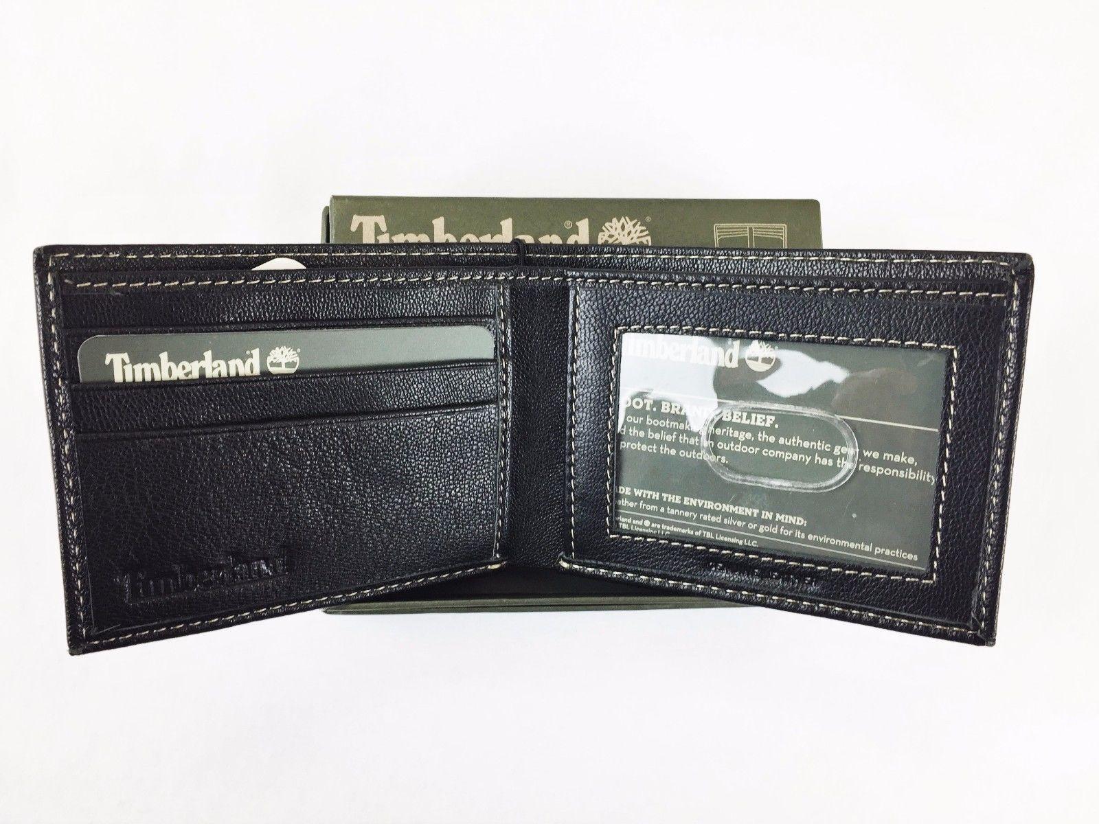 Timberland-Men-039-s-Blix-Slim-Bifold-Leather-Wallet thumbnail 8