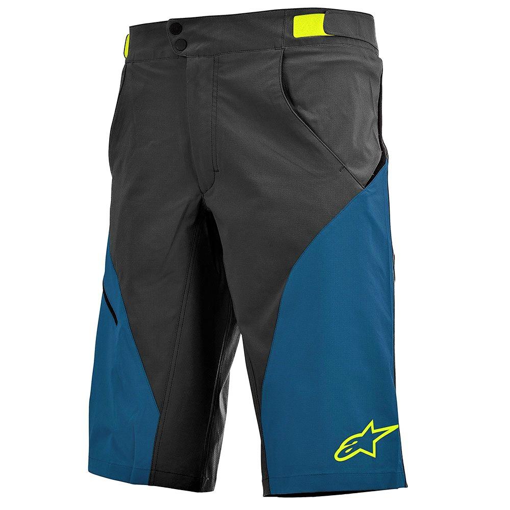 30 Alpinestars Mens Depth Cycling Shorts Royal Blue//Bright Green//Blue Size