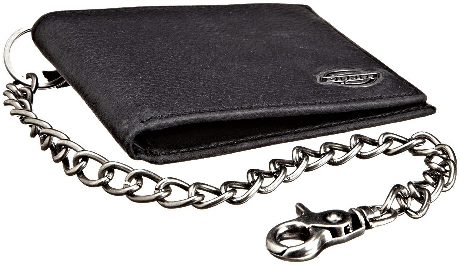 Dickies-Men-039-s-Leather-Slimfold-Wallet-With-Chain thumbnail 6