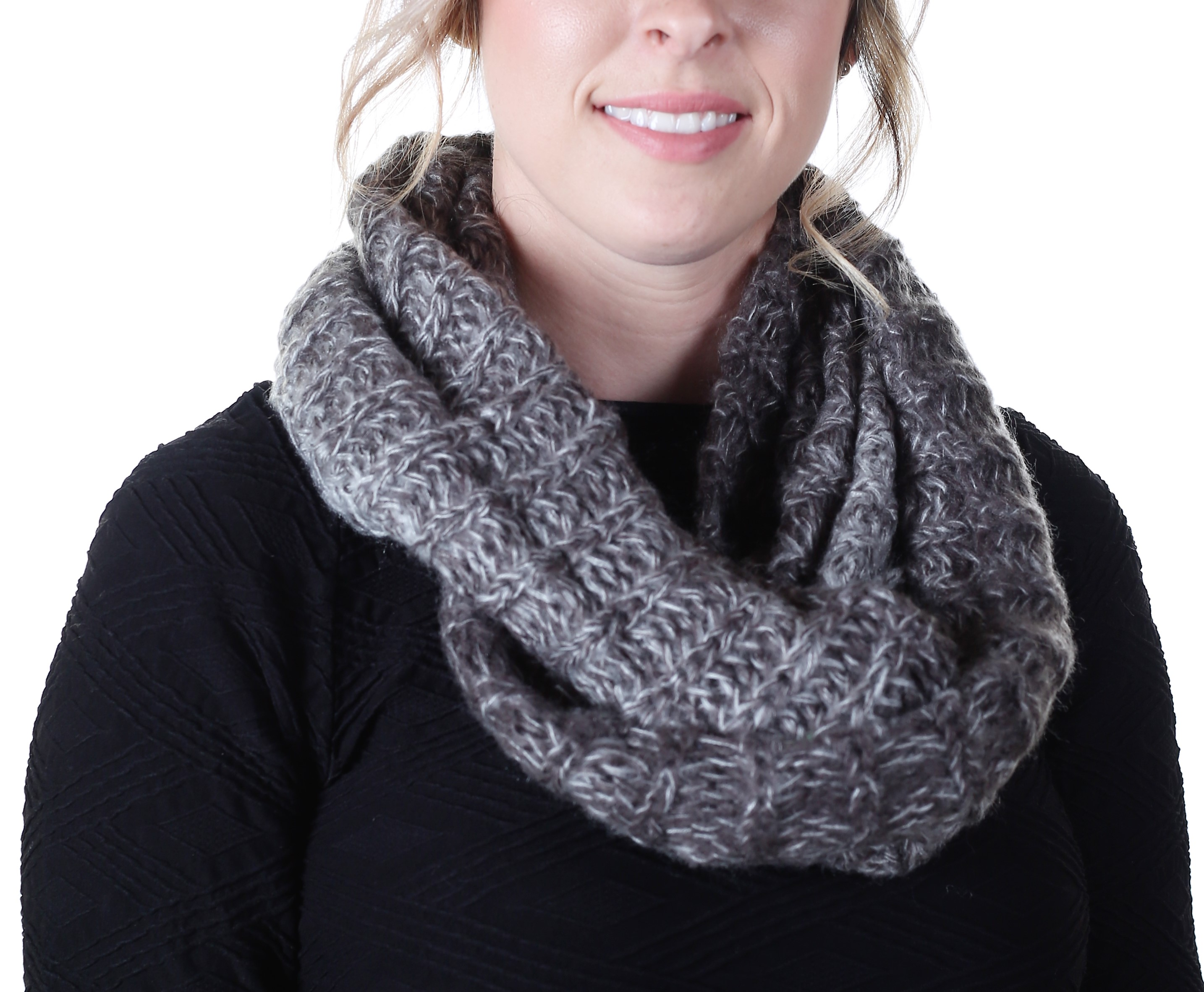 infinity in accessories gray gallery lyst scarf charcoal bone product wool grey rag alpacablend davina