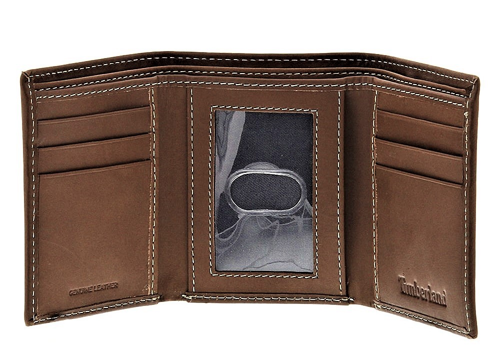 Timberland-Men-039-s-Hunter-Trifold-Leather-Wallet thumbnail 9