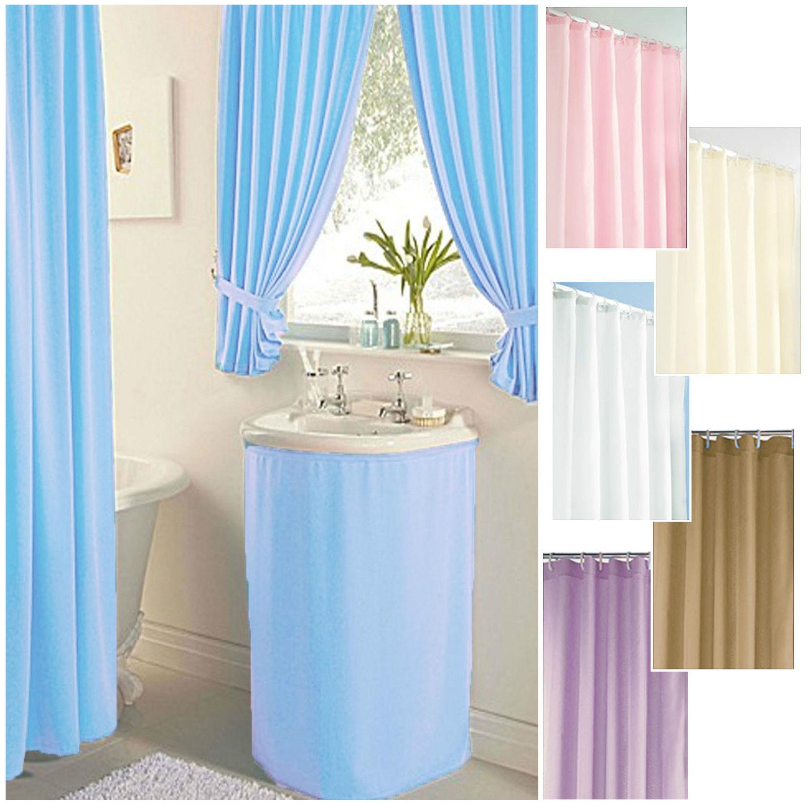 Plain Dyed ***CLEARANCE*** Bathroom Curtains, Shower