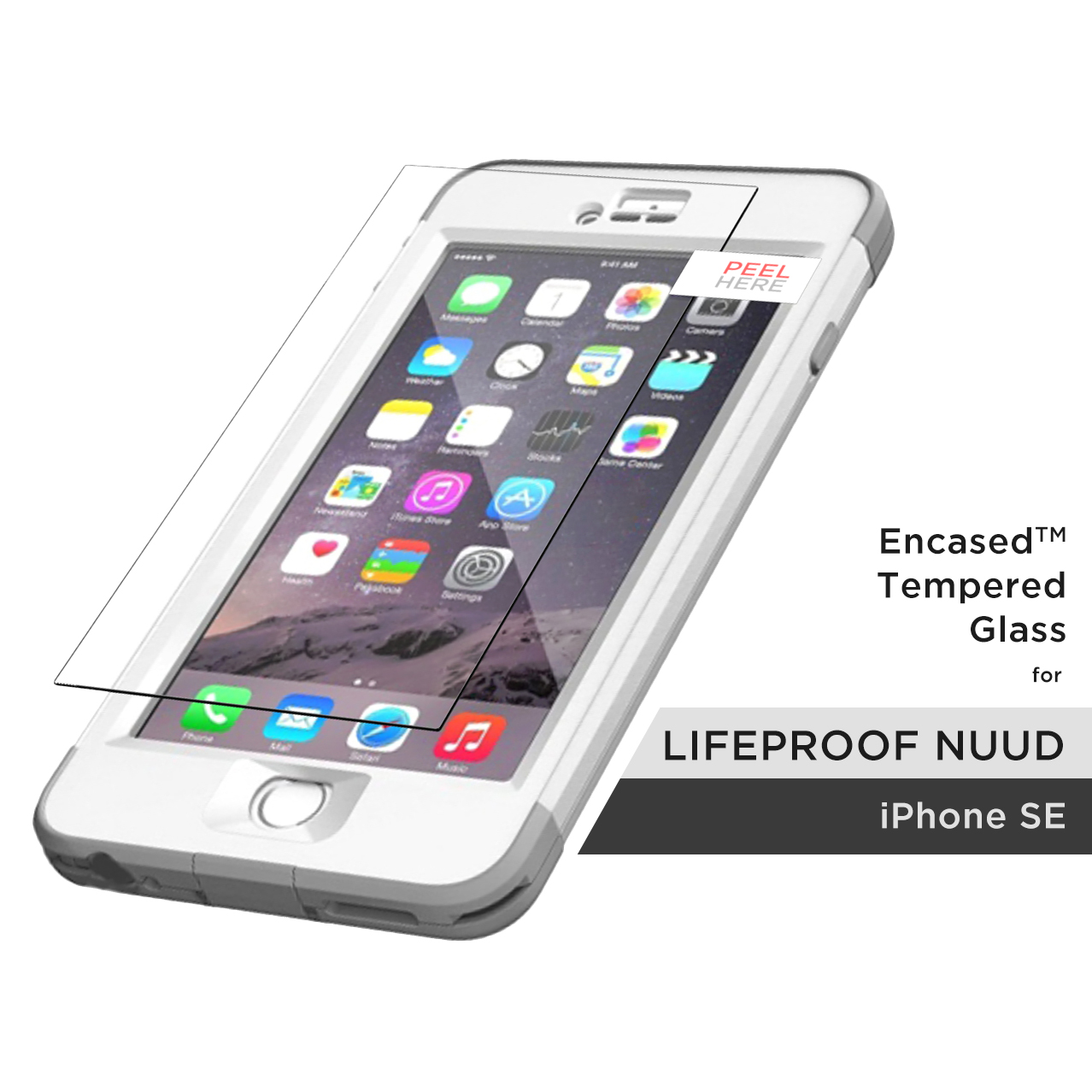 new arrival ffc75 f5573 Details about iPhone 5/SE Lifeproof Nuud Screen Protector, (R40)  ShatterProof Guard