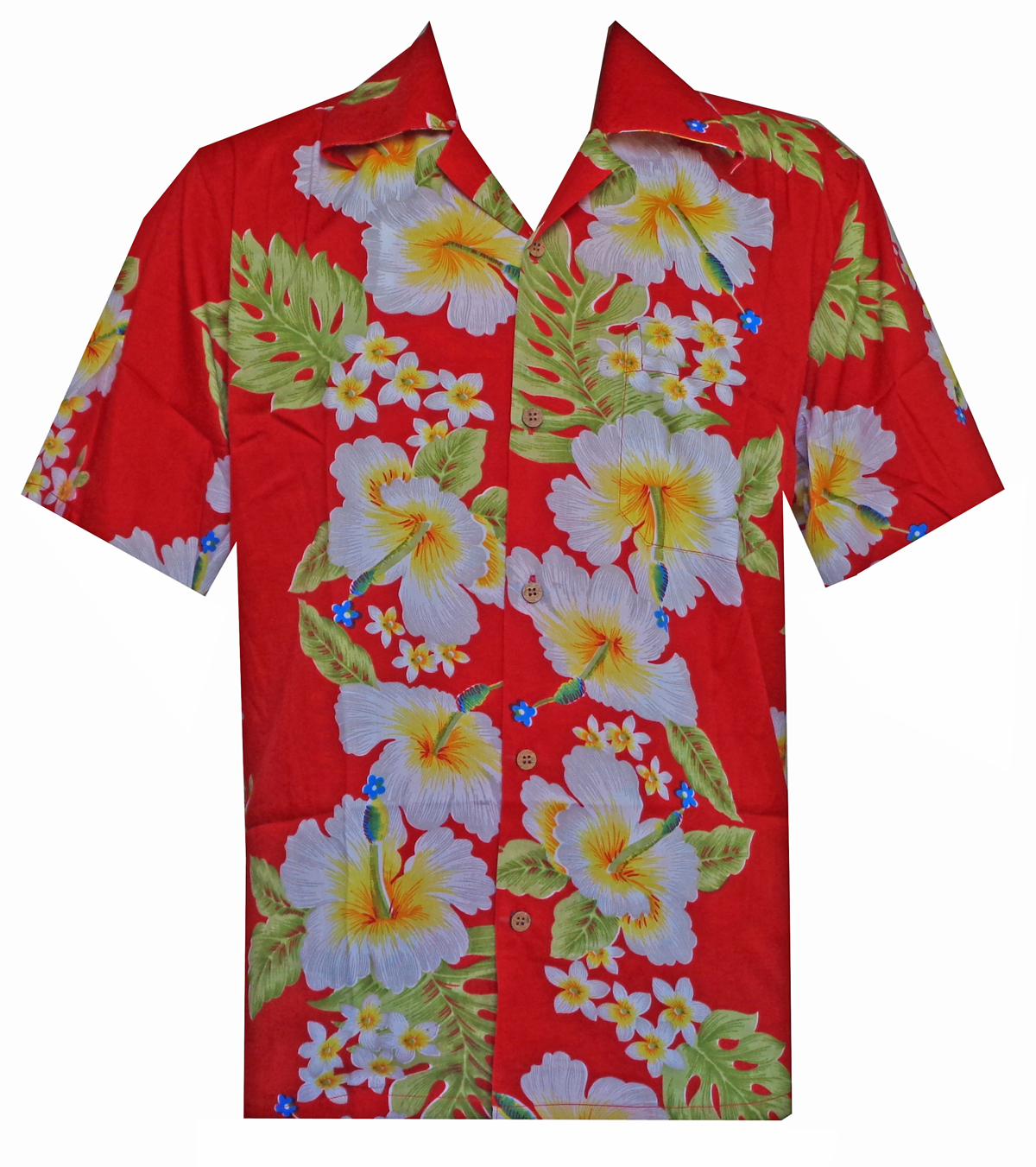 Hawaiian Shirts Mens Hibiscus Flower Print Beach Party Aloha Ebay